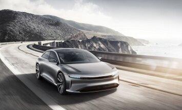1000 ZS elektromobilis 'Lucid Air' konkurencei ar 'Tesla'