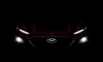 'Hyundai' daļēji atklājis savu mazāko apvidnieku 'Kona'