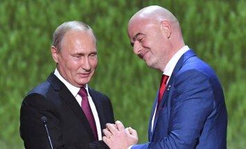"""Путин: """"Благодаря чемпионату мира рухнули мифы и предубеждения о России"""""""