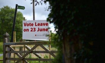 Aptaujas: turpina nostiprināties 'Brexit' atbalstītāju pārsvars