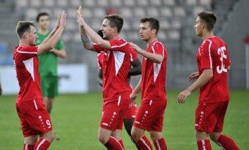 'Skonto' futbolisti izcīna virslīgas sudrabu, 'Ventspils' - bronzu