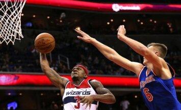 Porziņģa lieliskais sniegums palīdz 'Knicks' pieveikt 'Wizards'