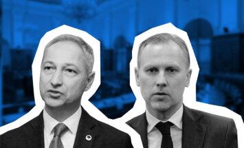Ceļā uz jaunu koalīciju: divu valdību veidošana un pirmais pār bortu pārmestais