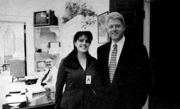 Prezidenta izspiegošana un pavedināšana: kā Levinska lenca Klintonu