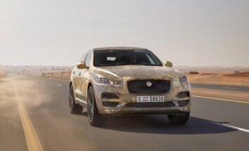 'Jaguar' savu pirmo apvidnieku 'F-Pace' izmēģinājis ekstrēmos apstākļos