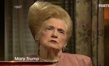 Internetā metas izsmiet Trampa mātes frizūru