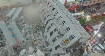 Taivānā zemestrīcē sagāžas 17 stāvu māja
