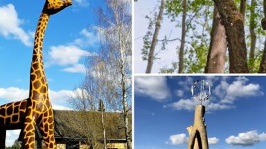 Deviņas vietas Latvijā, kur kopā ar bērniem aplūkot koka skulptūras