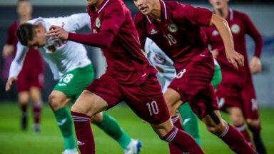 Latvijas U-21 futbolisti cīnās neizšķirti ar Bulgāriju
