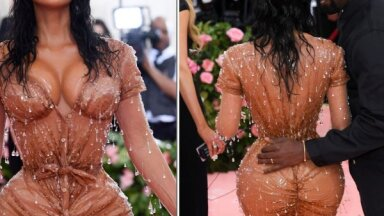 ФОТО: Слишком сексуальный наряд Ким Кардашьян причинил боль ее мужу