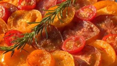 Тарт с томатами из творожного теста