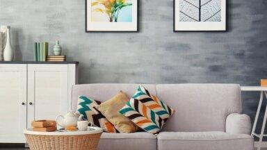 Piecas idejas efektīgām istabas pārvērtībām ar budžetu līdz 500€