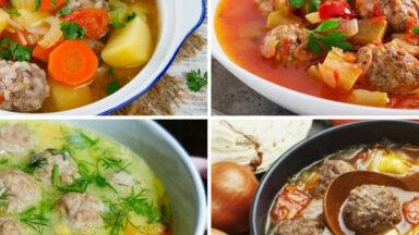 Frikadeļu zupas diēta visai nedēļai: 19 gardas un ātri pagatavojamas receptes