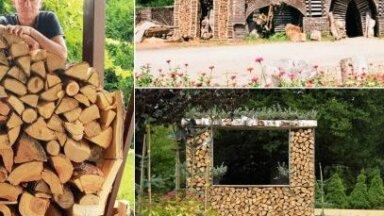 Māja kā malkas glabāšanas paraugs: ciemos pie Rimanta Ziedoņa
