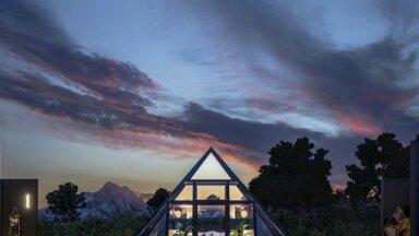 ФОТО. Стеклянная пирамида – необычное жилище рядом с Большим каньоном