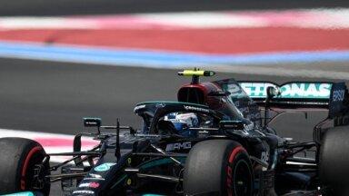 Botass un Verstapens ātrākie Francijas 'Grand Prix' pirmajos treniņos