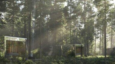 Foto: Neparastā naktsmītne – spoguļnamiņi meža vidū