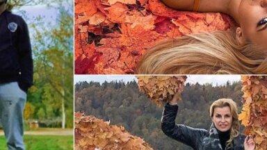Raibi foto: Populāri latvieši bauda zelta rudeni