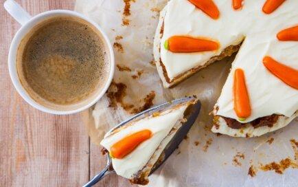 Burkānu torte ar siera krēmu
