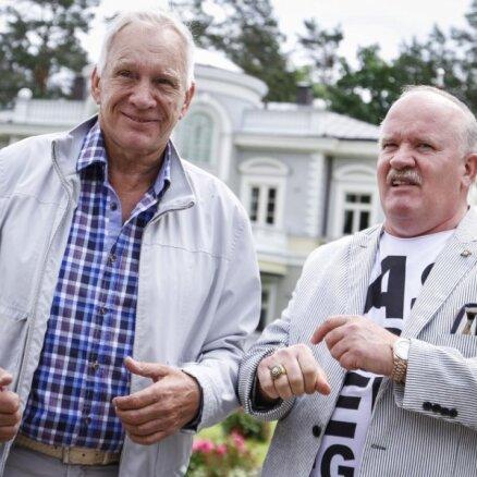 Foto: Ietekmīgi vīri pulcējas Gerkena zolītes turnīrā