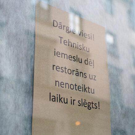Трети кафе и ресторанов в Латвии грозит банкротство