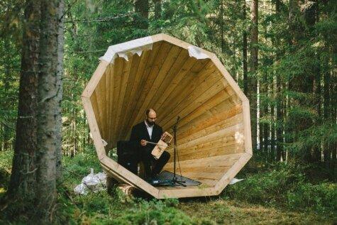 Igaunijā izgudrots milzu megafons, lai varētu klausīties mežu