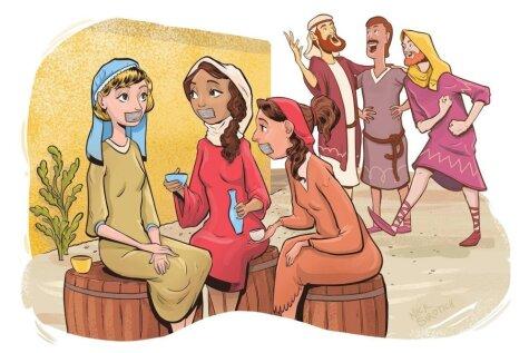 Kā izskatās daži panti no Bībeles, kad tie tiek ilustrēti