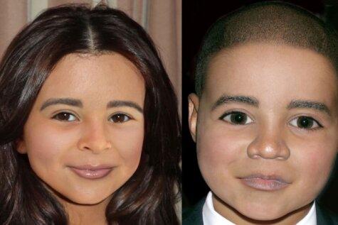Mākslīgi modelētas sejas: kā izskatīsies slavenību bērni