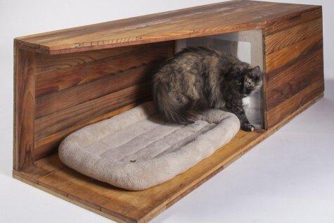 13 домиков для бродячих котов, сделанных крутыми архитекторами