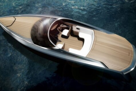 'Aston Martin' superjahta bagātajiem un slavenajiem