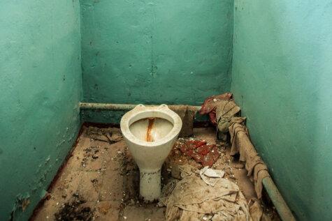 Radioaktīvās Černobiļas tualetes, kas stāv pamestas 30 gadus