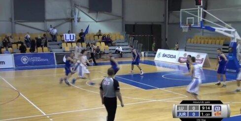 'Aldaris Latvijas Basketbola Līga' - 'Latvijas universitāte' - 'Jūrmala/Fēnikss' labākie momenti