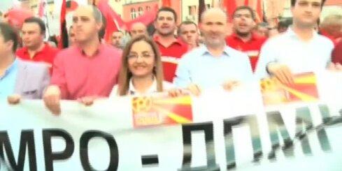 Maķedonijā ielās iziet premjerministra atbalstītāji