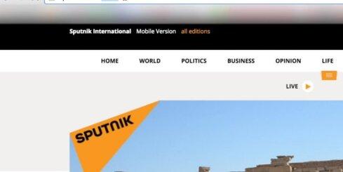 Latvijā aptur Kremļa propagandas portāla 'Sputnik' darbību