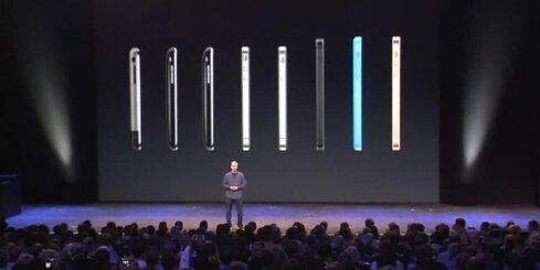 'Apple' prezentējis jaunos 'iPhone' viedtālruņus