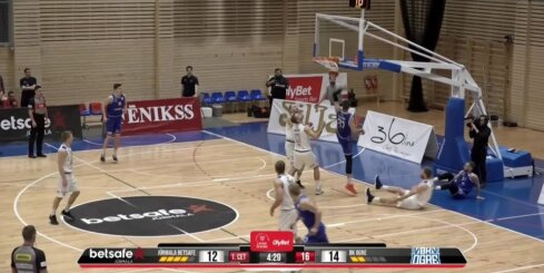 'OlyBet' basketbola līga: 'Betsafe/Jūrmala' - 'Ogre'. Spēles labākie momenti