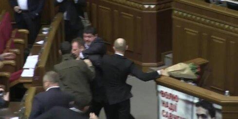 Nekārtības Ukrainas parlamentā