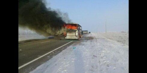 Kazahstānā autobusa ugunsgrēkā 52 mirušie