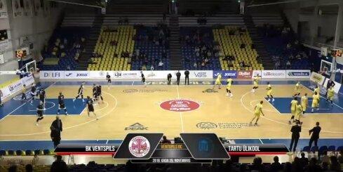 'OlyBet' Basketbola līga: 'Ventspils' - 'Tartu Ulkool'. Spēles labākie momenti (25.11.2018.)