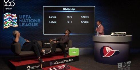 Armands Puče un Valdis Valters analizē Latvijas futbola izlases sniegumu Nāciju līga