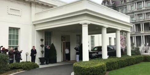 Vējonis ierodas Baltajā namā