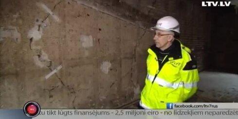 LTV7: журналистам показали наружную стену Рижского цирка изнутри