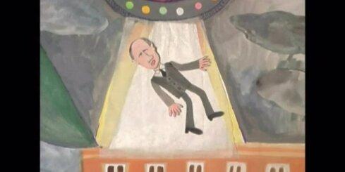 Ukrainā bērnu veidotā animācijas filmā Putinu nolaupa citplanētieši