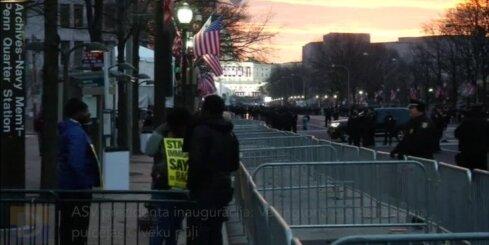 ASV prezidenta inaugurācija: Vašingtonā pie Baltā nama pulcējas cilvēku pūļi