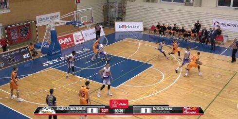 'OlyBet' basketbola līga: 'Jēkabpils/SMScredit.lv' - 'Valga-Valka/Maks&Moorits'. Spēles labākie momenti
