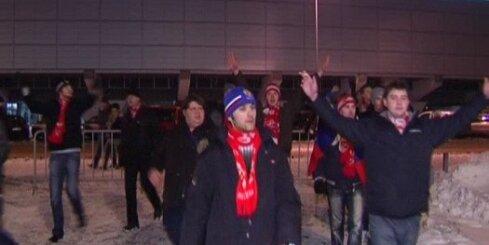 'Spartak' fani Rīgā uzvedas agresīvi