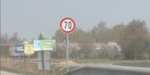 Uz Tallinas šosejas pie Ādažiem jauns ātruma ierobežojums