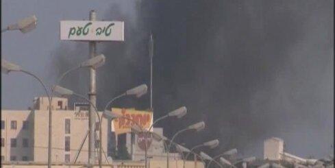 No Gazas joslas izšauta raķete uzspridzina benzīntanku