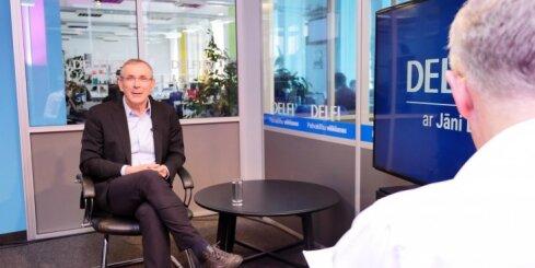 'Delfi TV ar Jāni Domburu': Piebalgs par 'Vienotības' pārmaiņām un sūci uz kuģa