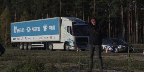 Eksperiments - cik garš ir kravas auto bremzēšanas ceļš?